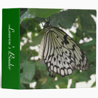 Tropical Paper Kite Butterfly Custom Binder