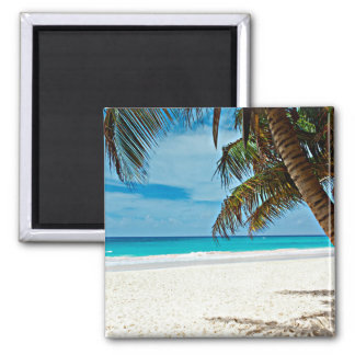 Tropical Paradise 2 Inch Square Magnet