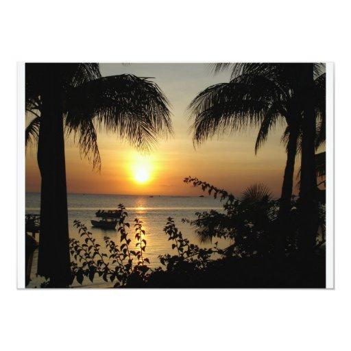 Tropical Paradise 5x7 Paper Invitation Card