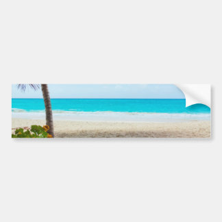 Tropical Paradise Beach Car Bumper Sticker
