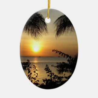 Tropical Paradise Beach Christmas Ornament