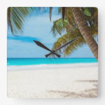 Tropical Paradise Beach Clocks