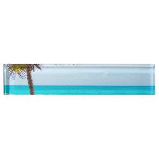 Tropical Paradise Beach Desk Name Plate