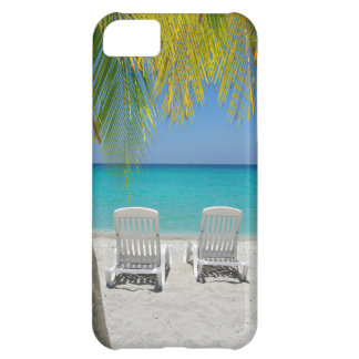 Tropical paradise beach in the Caribbean Case For iPhone 5C