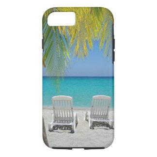 Tropical paradise beach in the Caribbean iPhone 7 Case