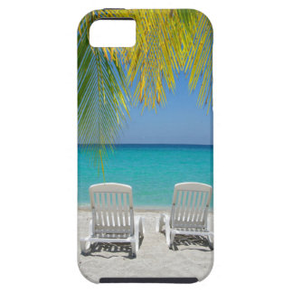 Tropical paradise beach in the Caribbean iPhone SE/5/5s Case