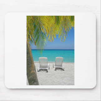 Tropical paradise beach in the Caribbean Mouse Pad