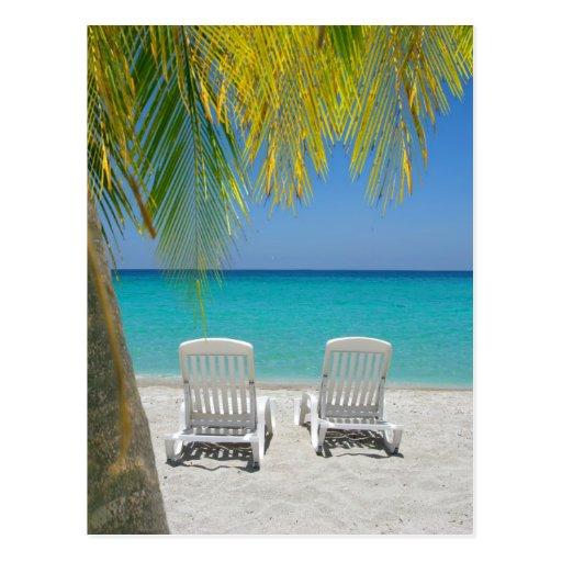 Tropical paradise beach in the Caribbean Postcards