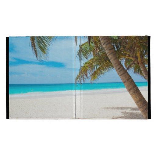 Tropical Paradise Beach iPad Folio Covers