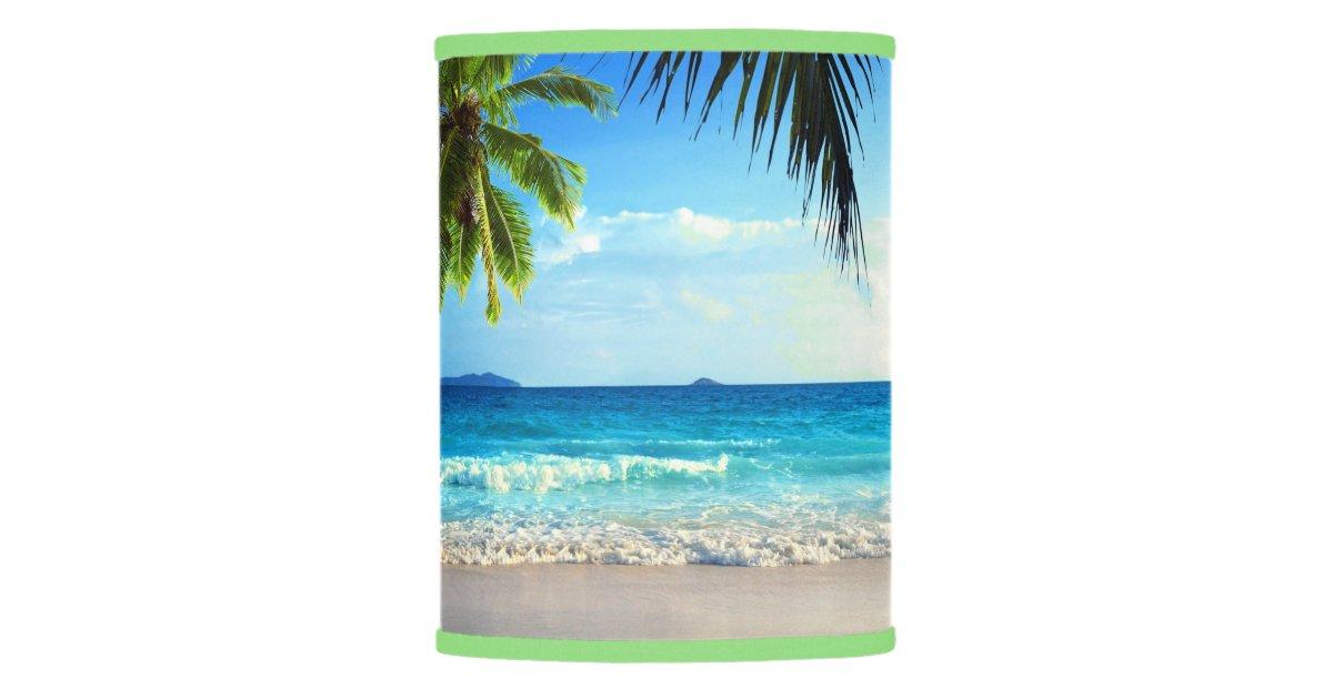 Tropical Paradise Beach Lamp Shade