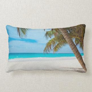 Tropical Paradise Beach Lumbar Pillow