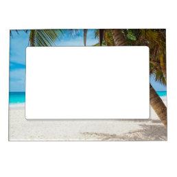 Tropical Paradise Beach Magnetic Frame