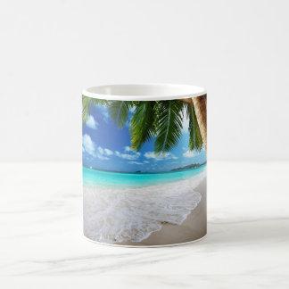 Tropical paradise beach mug