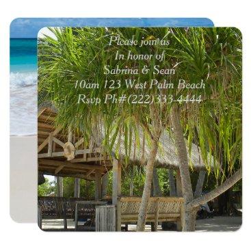 Beach Themed Tropical Paradise Beach Palm Destiny Destiny'S Card