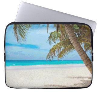 Tropical Paradise Beach Palm Trees Computer Sleeves