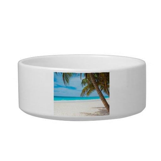 Tropical Paradise Beach Pet Bowls
