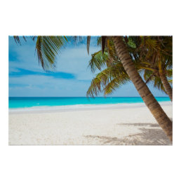 Tropical Paradise Beach Poster