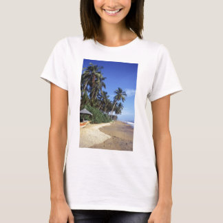 Tropical Paradise Beach Scene Women's T-shirts