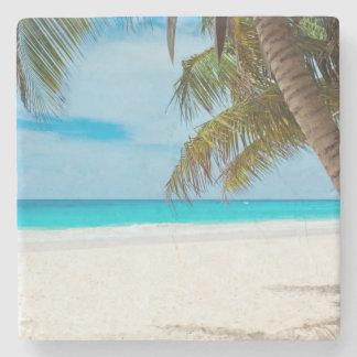 Tropical Paradise Beach Stone Coaster
