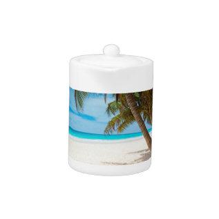 Tropical Paradise Beach Teapot at Zazzle