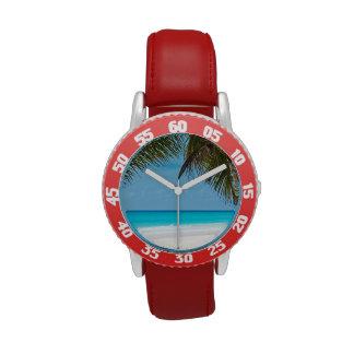 Tropical Paradise Beach Wrist Watches