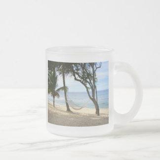 Tropical Paradise Beach Water Sand Sun Sky Palm Coffee Mug