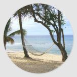 Tropical Paradise Beach Water Sand Sun Sky Palm Sticker