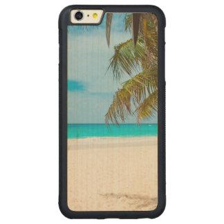 Tropical Paradise Beach Carved® Maple iPhone 6 Plus Bumper