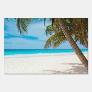 Tropical Paradise Beach Yard Sign