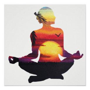yoga posters  prints  zazzle