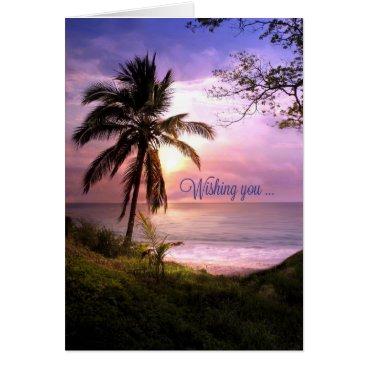 Beach Themed Tropical Paradise Birthday Card