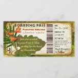 """Tropical Paradise Boarding Pass Invitation<br><div class=""""desc"""">For more like this,  visit TerraCosmos!</div>"""