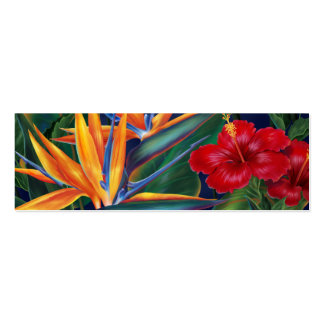 Tropical Paradise Bookmark Double-Sided Mini Business Cards (Pack Of 20)