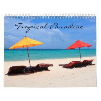 Tropical paradise calendar