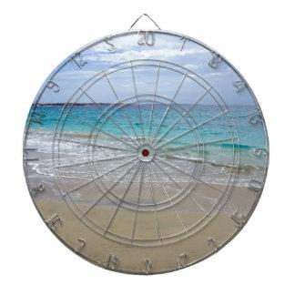 tropical paradise dartboard with darts