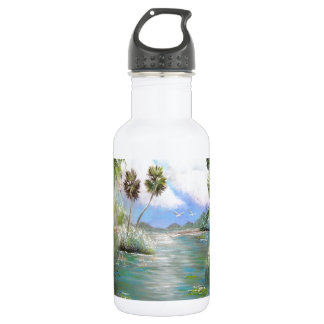Tropical Paradise Design Stainless Steel Water Bottle