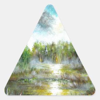 Tropical Paradise Design Triangle Sticker