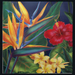"Tropical Paradise Dinner Napkins<br><div class=""desc"">This original digital painting by renowned illustrator Jeff Fillbach is an explosion of the colors of some of nature&#39;s most beautiful flowers. Featuring an array of birds of paradise, plumeria and hibiscus, the items in our Tropical Paradise collection will lift your spirits, and fuel your dreams. Bring paradise to your...</div>"