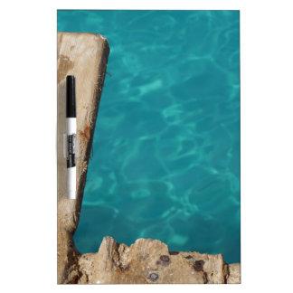 tropical paradise dry erase board