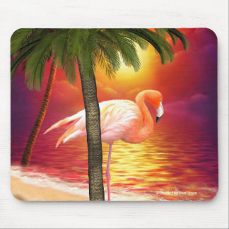 Tropical Paradise Flamingo Mousepad Mouse Pad