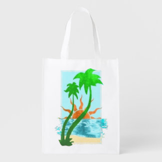 TROPICAL PARADISE GROCERY BAG