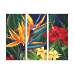 Tropical Paradise Hawaiian 3-Panel Wrapped Canvas Canvas Print