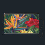 """Tropical Paradise Hawaiian Bagettes &amp; Wristlets<br><div class=""""desc"""">This original digital painting by renowned illustrator Jeff Fillbach is an explosion of the colors of some of nature&#39;s most beautiful flowers. Featuring an array of birds of paradise, plumeria and hibiscus, the items in our Tropical Paradise collection will lift your spirits, and fuel your dreams. Bring paradise to your...</div>"""