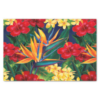 "Tropical Paradise Hawaiian Floral 10"" X 15"" Tissue Paper"