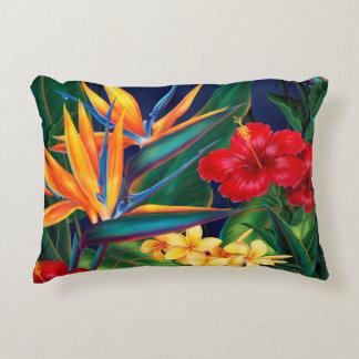 Tropical Paradise Hawaiian Floral Accent Pillow