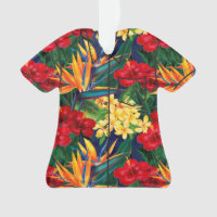Tropical Paradise Hawaiian Floral Aloha Shirt Ornament