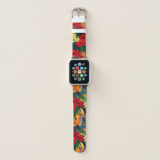 Tropical Paradise Hawaiian Floral Apple Watch Band