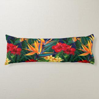 Tropical Paradise Hawaiian Floral Body Pillow