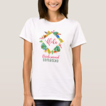 Tropical Paradise Hawaiian Floral Bridal T-Shirt