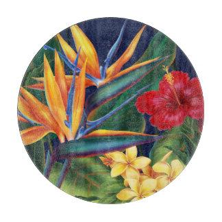 Tropical Paradise Hawaiian Floral Cutting Board